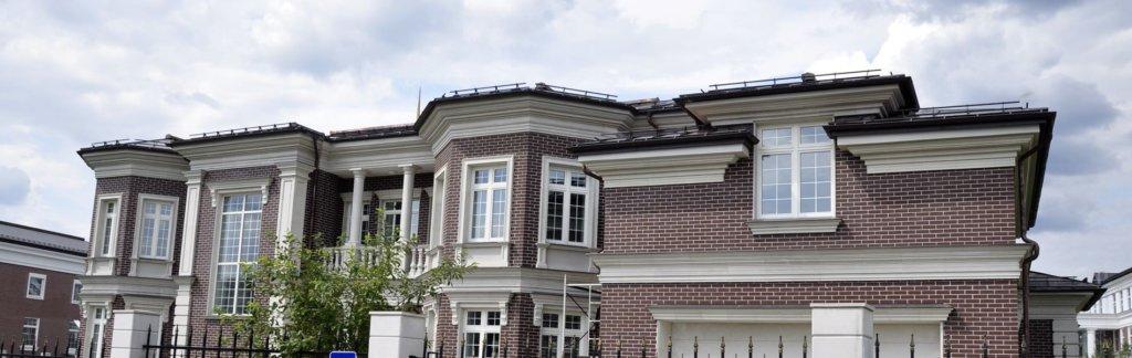 современный фасад загородного дома