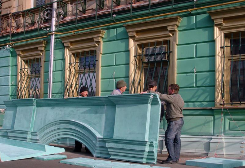 покрытие фасадный декор