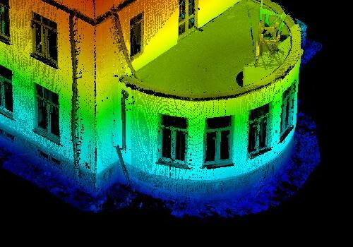3Д сканирование фасада домов