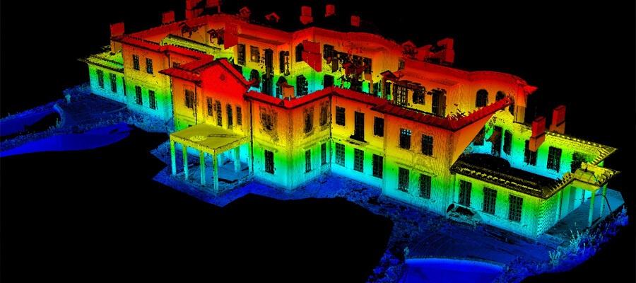 3Д сканирование фасада